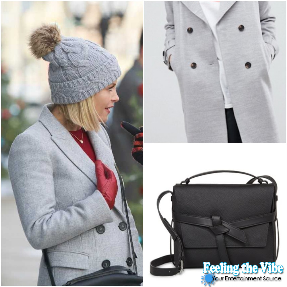 Candace Cameron Bure's Black Bag and Gray Coat in ' A Shoe Addict's Christmas'