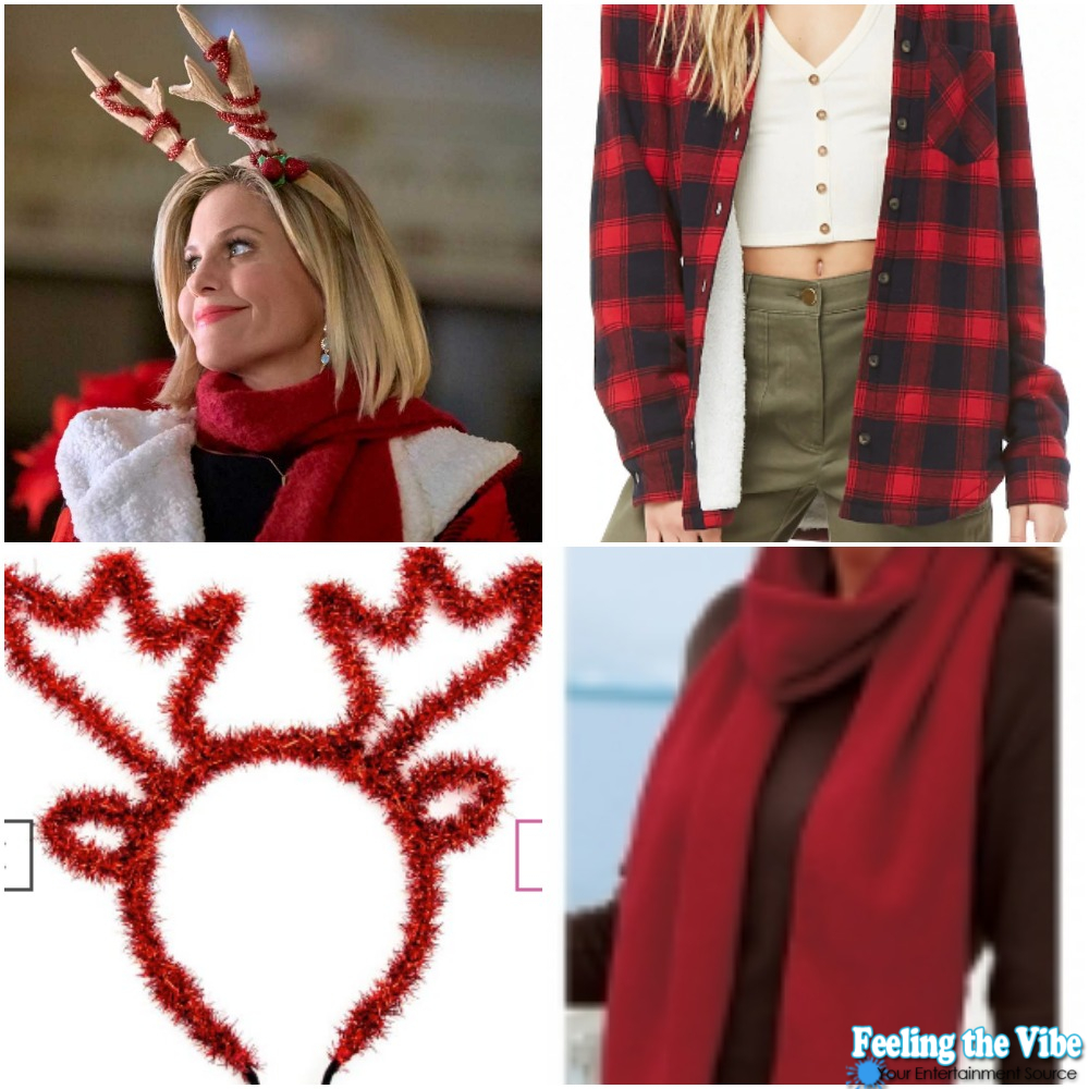 """Candace Cameron Bure's Reindeer Ears and Red Jacket on """"A Shoe Addict's Christmas"""""""