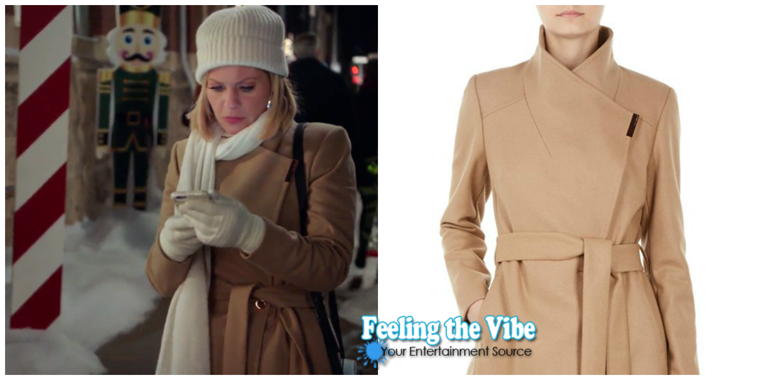 Candace Cameron Bure's Camel Coat in 'A Shoe Addict's Christmas'