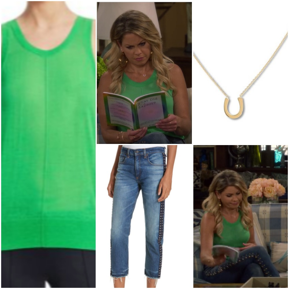 Lime Green Shirt and Jean Crop Pants on DJ Fuller from 'Fuller House'