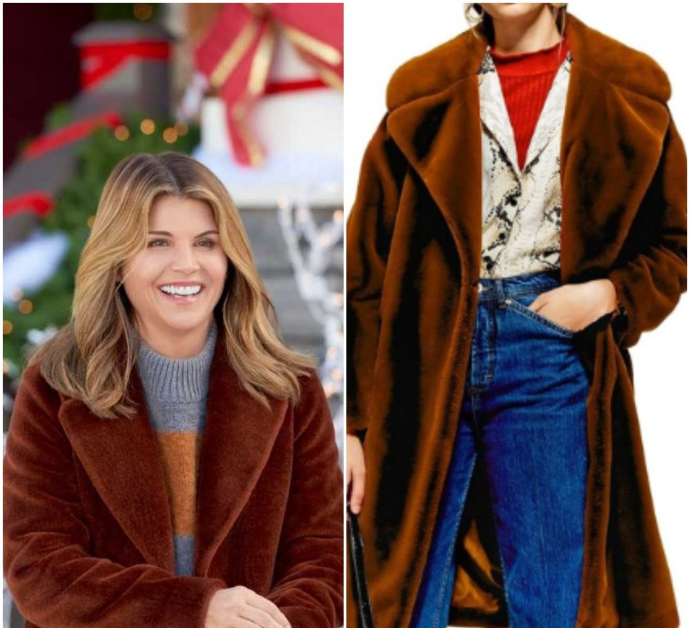 Lori Loughlin's Brown Coat from 'Homegrown Christmas'