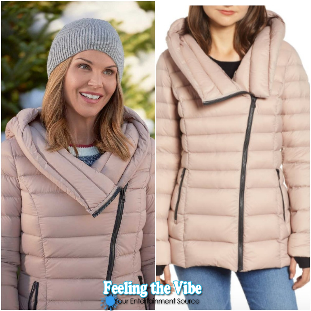 Lori Loughlin Champagne Coat from 'Homegrown Christmas'