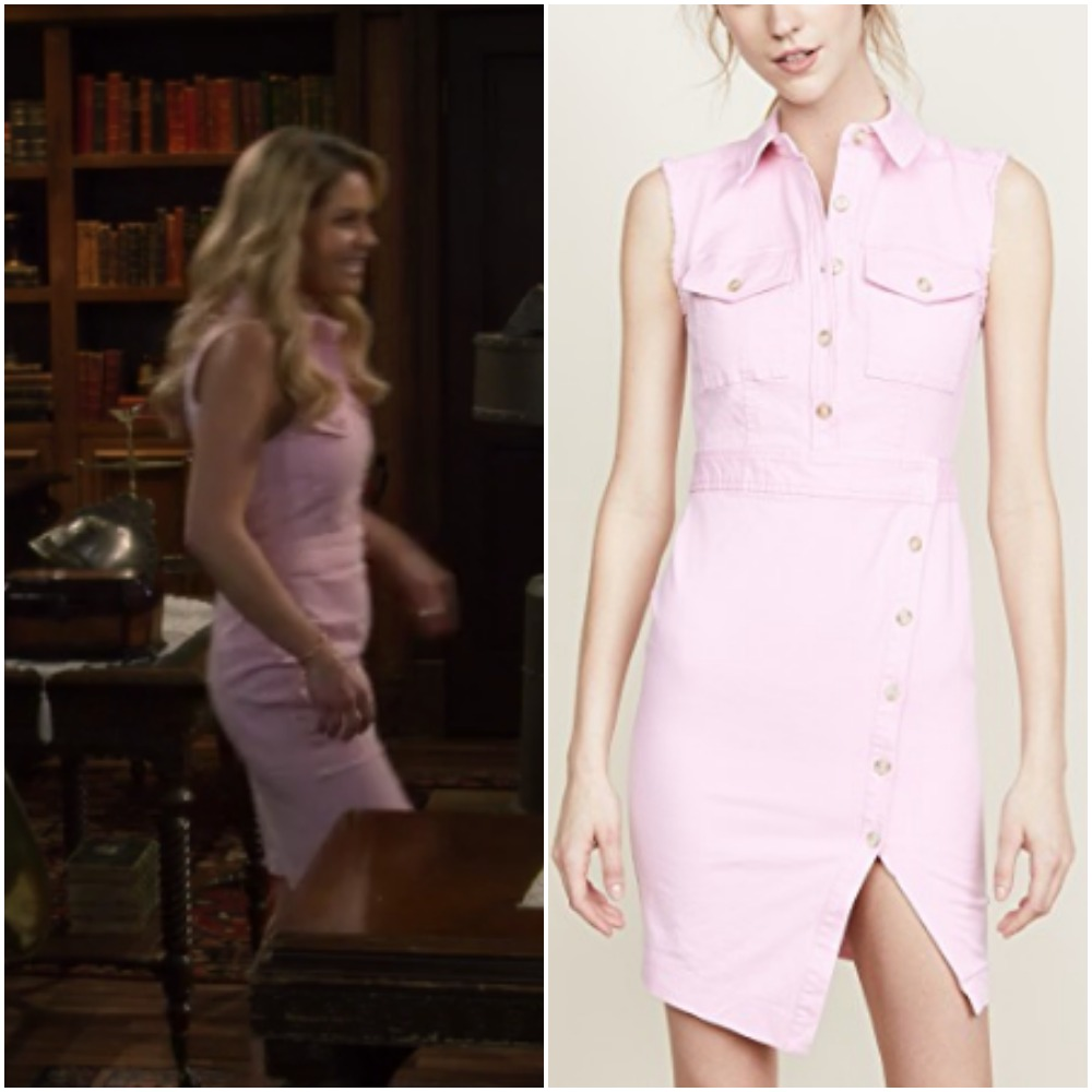 8eca1a0c4c Light Pink Denim Dress on Candace Cameron during  Fuller House  Season 4