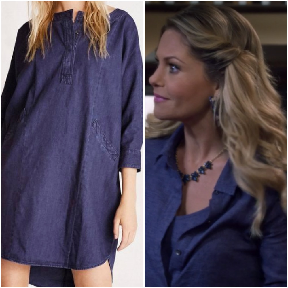Purple and Indigo Jeans Dress on Candace Cameron from 'Fuller House'