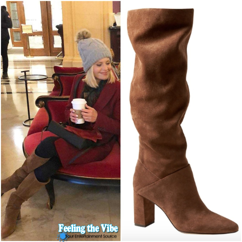 Candace Cameron Brown Boots from 'A Shoe Addict's Christmas'