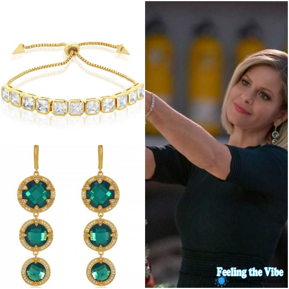 Candace Cameron Bure Green Earrings in 'A Shoe Addict's Christmas'