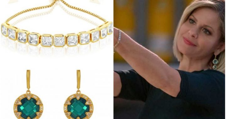 Candace Cameron Gold Topaz Earrings and Diamond Bracelet in A Shoe Addict's Christmas on Hallmark Channel.