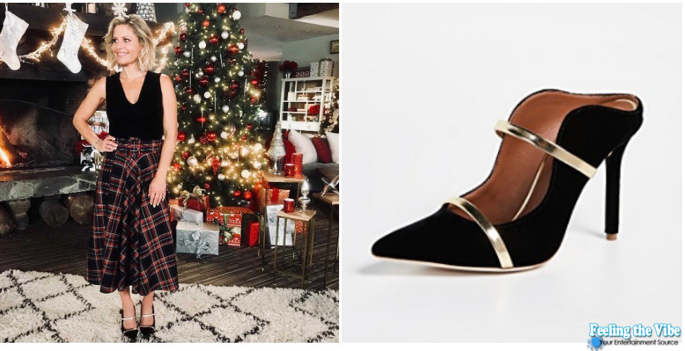 Candace Cameron Black Heels from 'A Shoe Addict's Christmas'