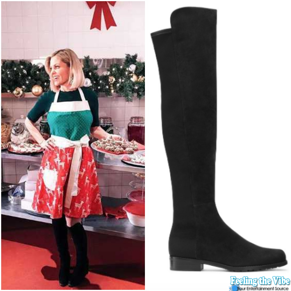 Candace Cameron Black Boots from 'A Shoe Addict's Christmas'