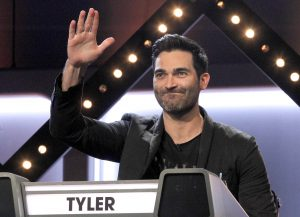 Tyler Hoechlin in ABC's Match Game on January 9, 2019