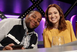 Kenan Thompson and Ellie Kemper on ABC's Match Game on January 9, 2019