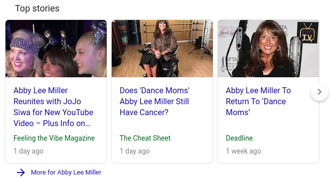 Abby Lee Miller article on Google News