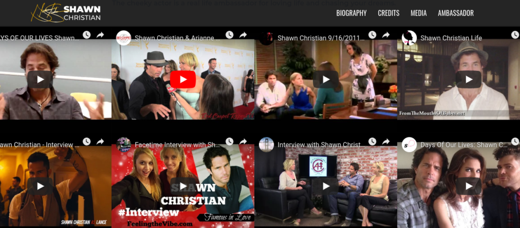 Shawn Christian Official Website