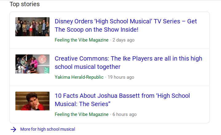 HSM Coverage on Feeling the Vibe Google News