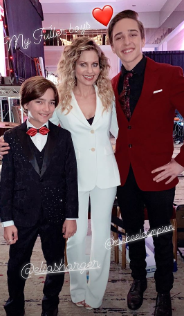 Candace Cameron Bure with Elias Harger and Michael Campion at Movieguide Awards 2019