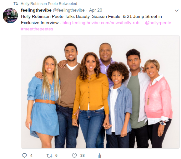 Holly Robinson Peete Retweets Feeling the Vibe Interview