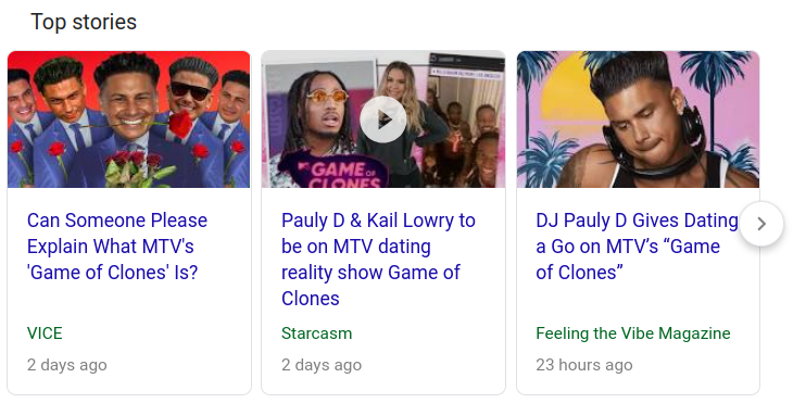 Pauly D article in Google News