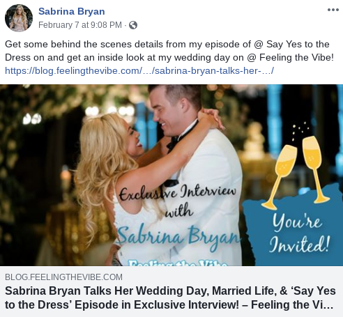 Sabrina Bryan Announces Interview with Feeling the Vibe