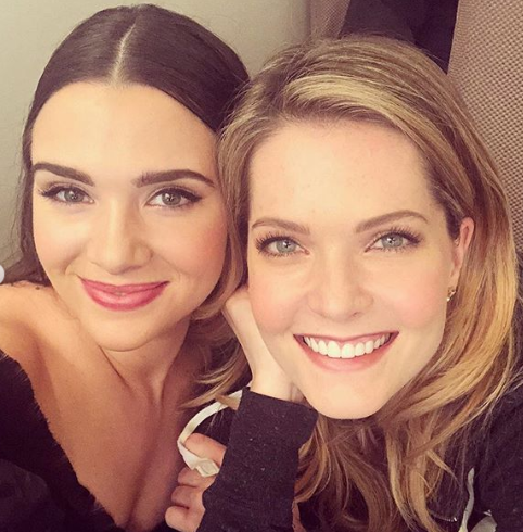 Meghann Fahy and Katie Stevens from 'The Bold Type'
