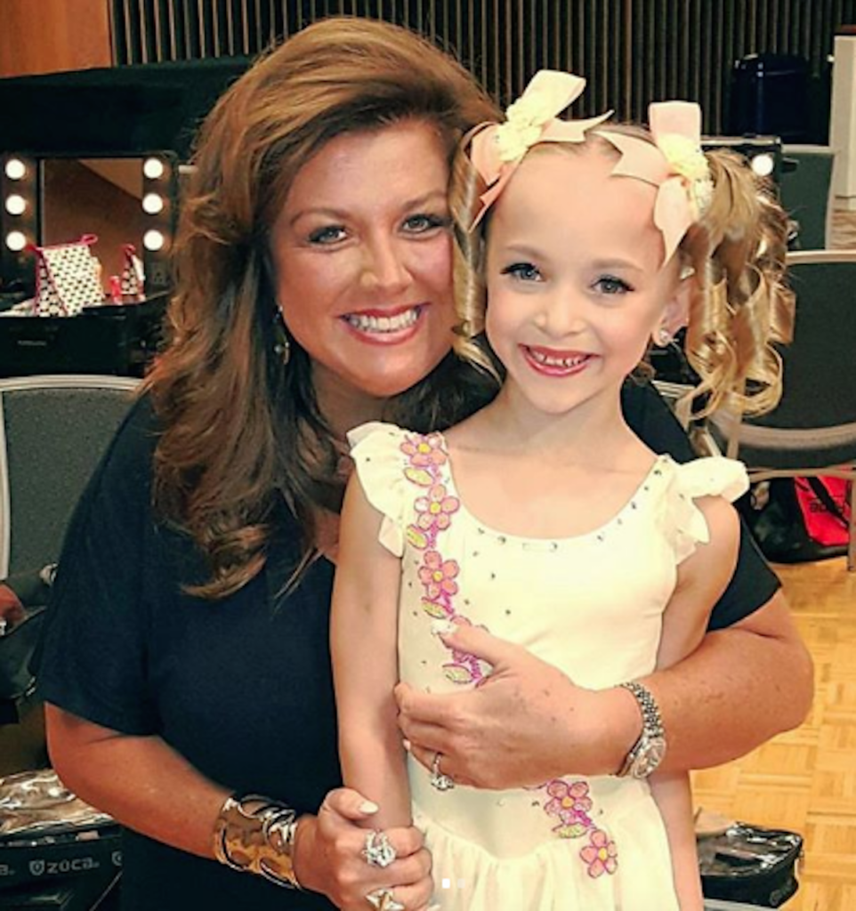 Lilliana Ketchman and Abby Lee Miller