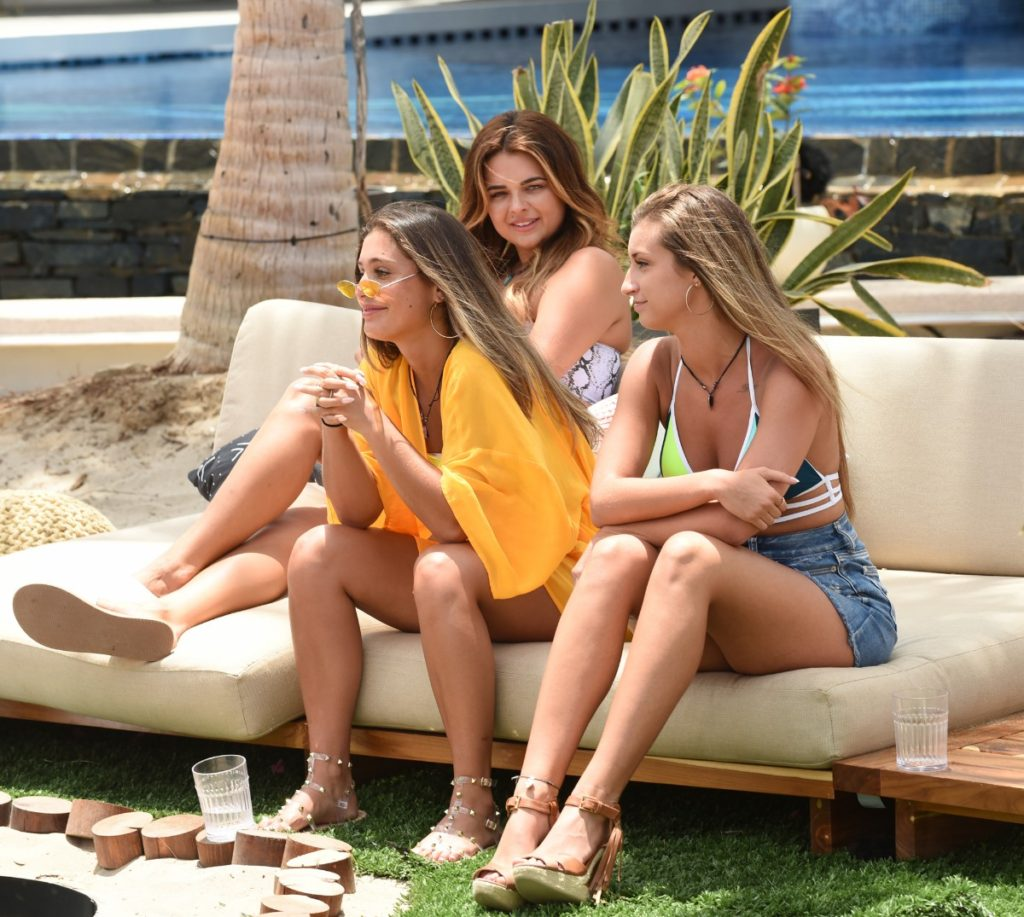 Brittany, Kaitlin, and Shailee on Paradise Hotel