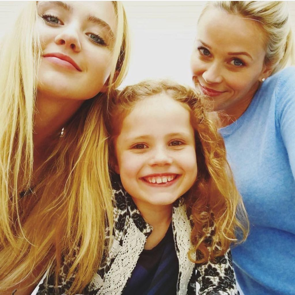 Darby Camp, Kathryn Newton, and Reese Witherspoon,