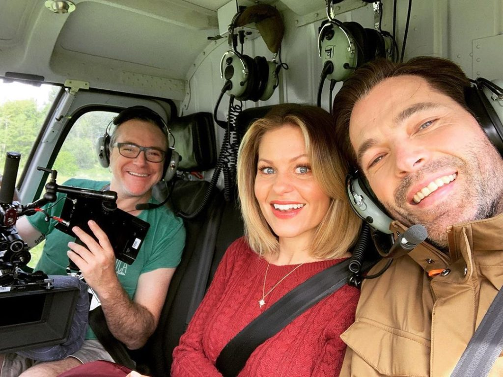 Tim Rozon and Candace Cameron Bure Filming 'Christmas Town' 2019