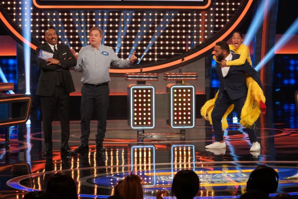 Tracee Ellis Ross and Anthony Anderson on Celebrity Family Feud