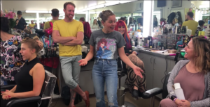 Jodie Sweetin, Candace Cameron Bure, Andrea Barber on 'Fuller House' set