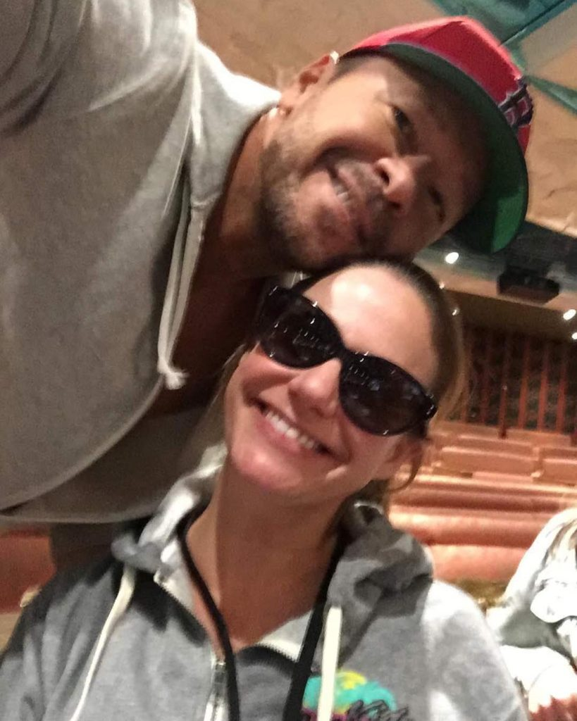 Andrea Barber and Donnie Wahlberg from NKOTB
