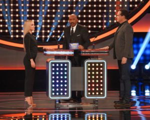 Dove Cameron and Diedrich Bader on 'Celebrity Family Feud'