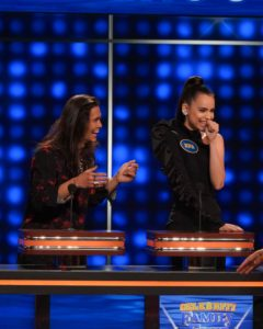 Booboo Stewart and Sofia Carson on 'Celebrity Family Feud'