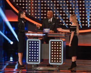 Sofia Carson and Meg Donnelly on 'Celebrity Family Feud'