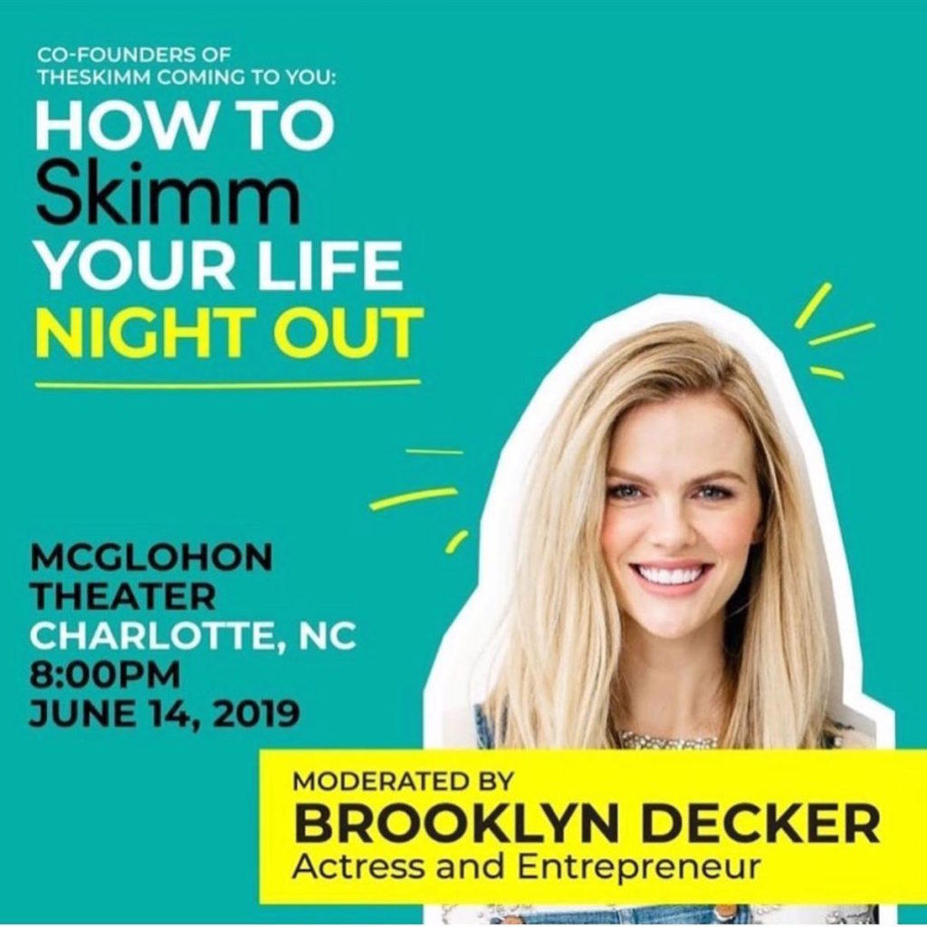 The Skimm Night Out event - hosted by Brooklyn Decker
