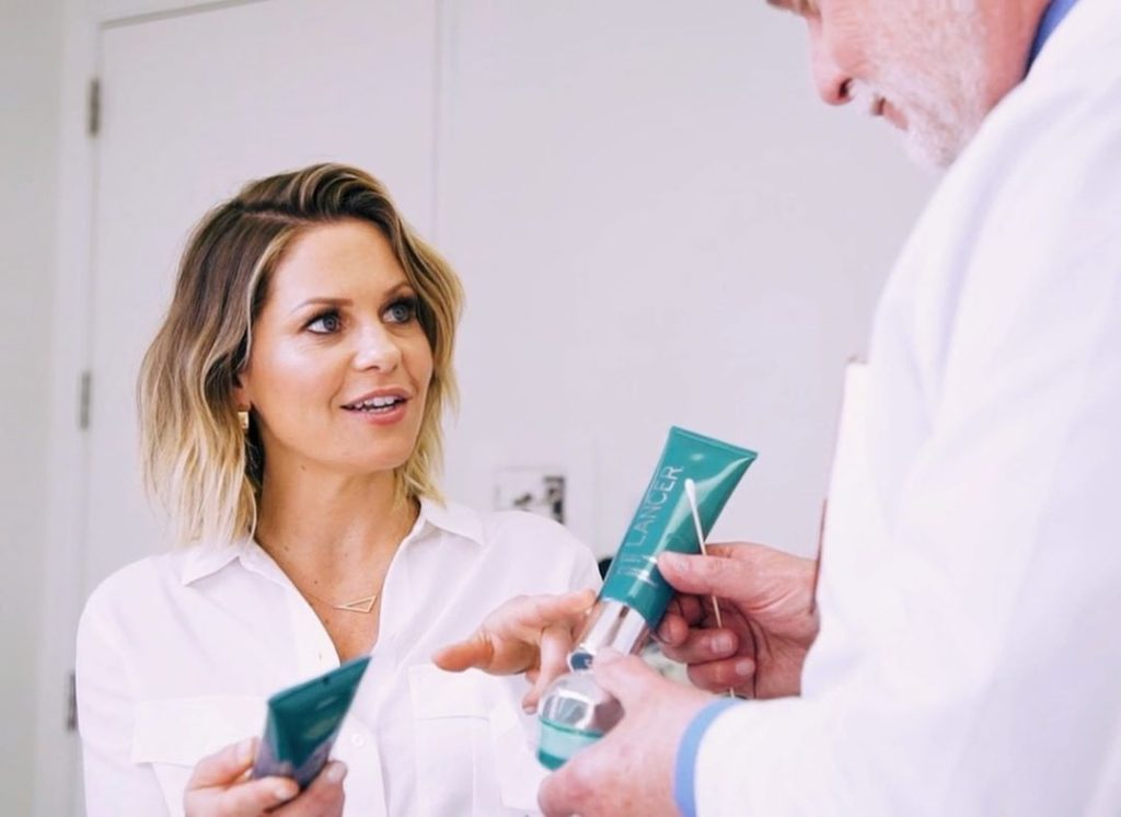 Candace Cameron Nighttime Skincare Routine with Dr. Lancer