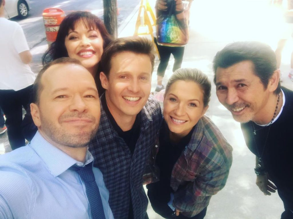 Donnie Wahlberg on the set of Blue Bloods