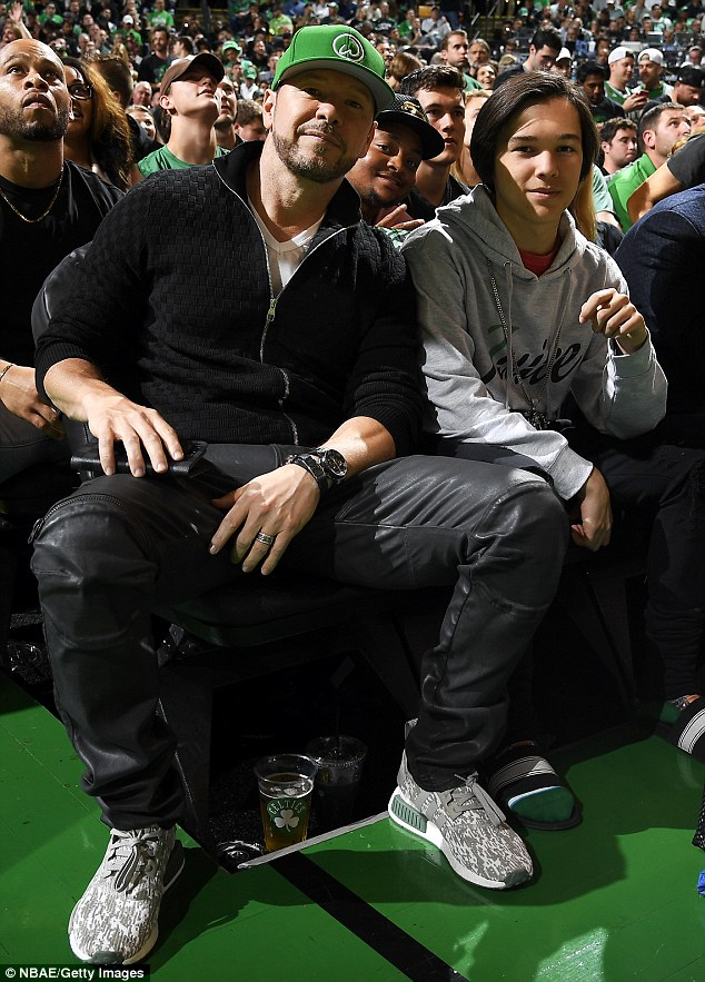 Donnie Wahlberg with son Elijah