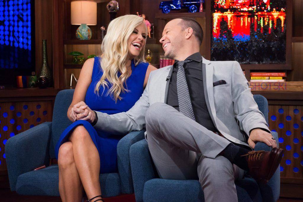Donnie Wahlberg and Jenny McCarthy on Watch What Happens Live on Bravo