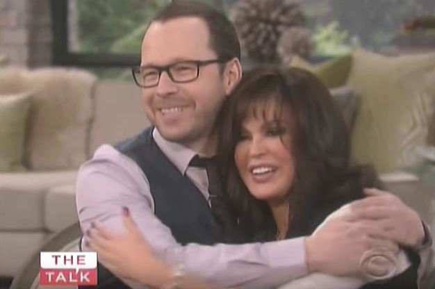 Donnie Wahlberg with Marie Osmond on The Talk