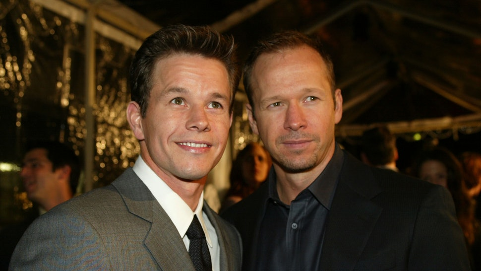 Donnie Wahlberg with brother Mark Wahlberg