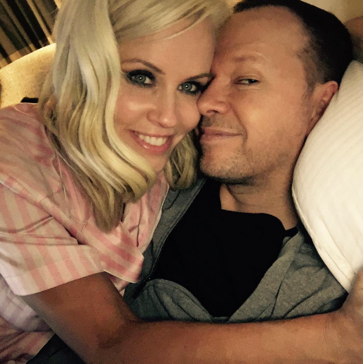 Jenny McCarthy with husband Donnie Wahlberg