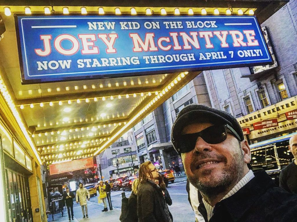 Donnie Wahlberg at the Waitress Musical