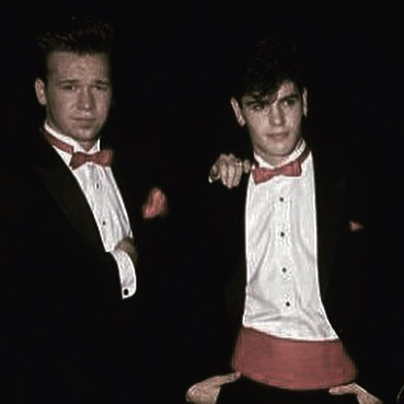 Donnie Wahlberg and Jordan Knight Young