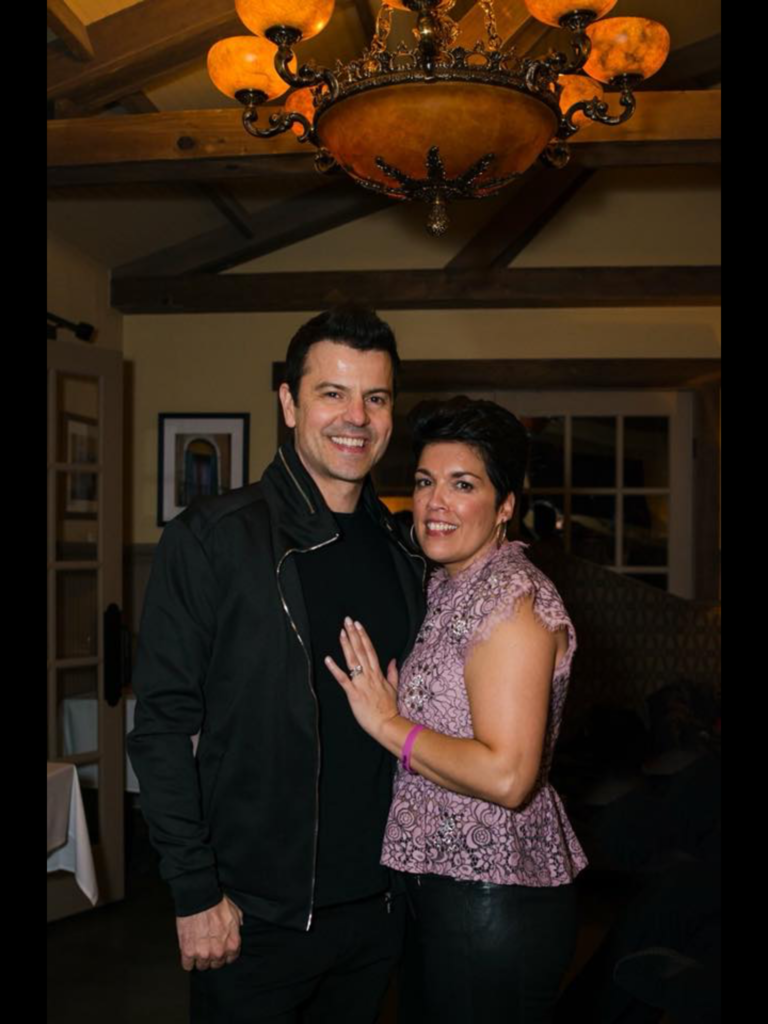 Jordan Knight at Dancing for Hope Gala with wife Evelyn