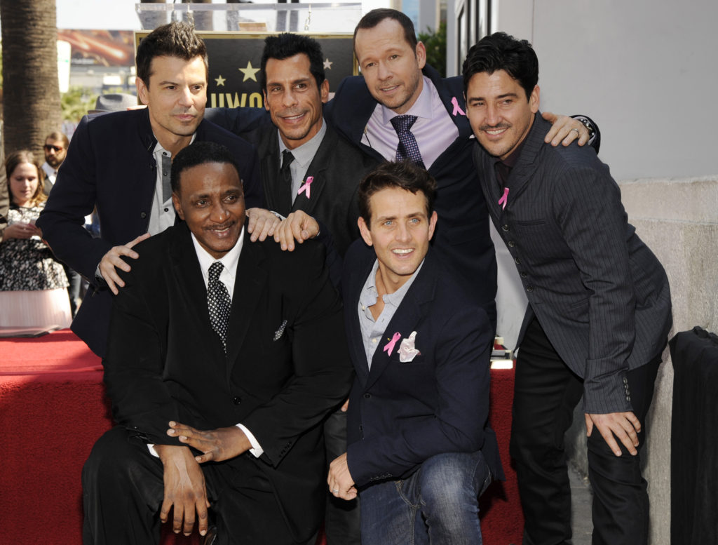 Maurice Starr with NKOTB Hollywood Walk of Fame