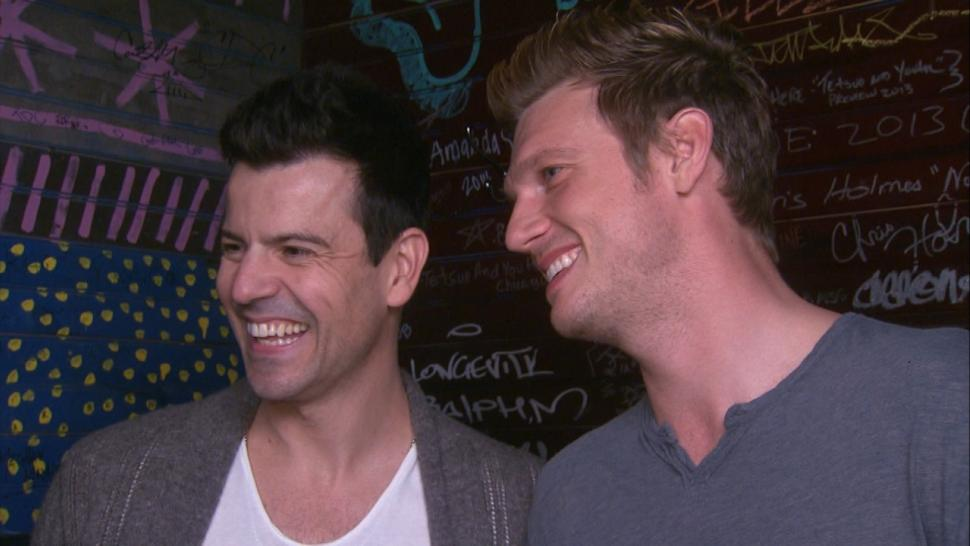 Jordan Knight and Nick Carter interviewed by Entertainment Tonight