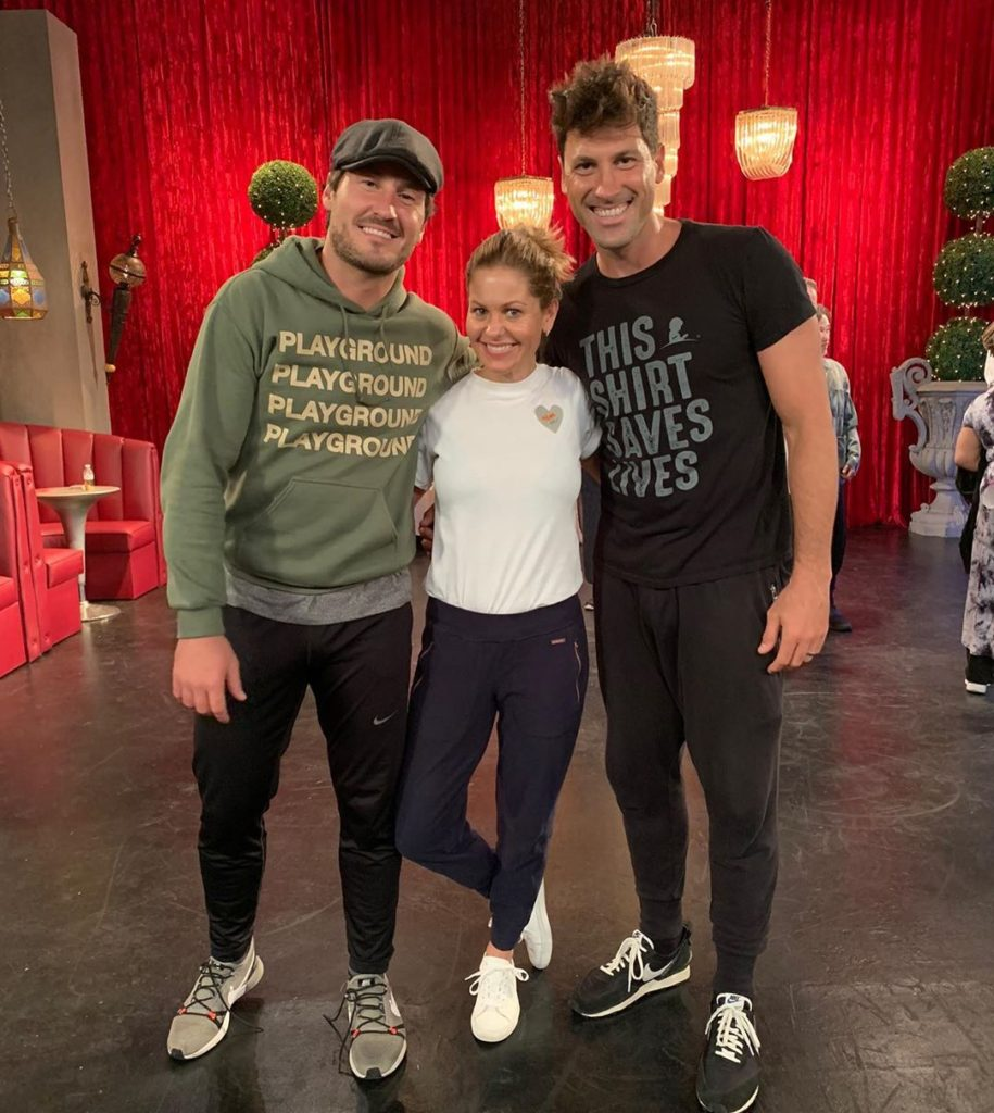 Val and Maksim with Candace Cameron Bure on Fuller House Season 5
