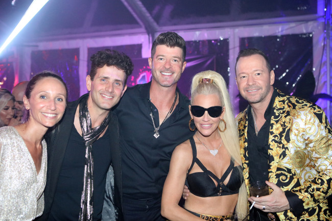 Donnie Wahlberg's 50th birthday with Joey McIntyre