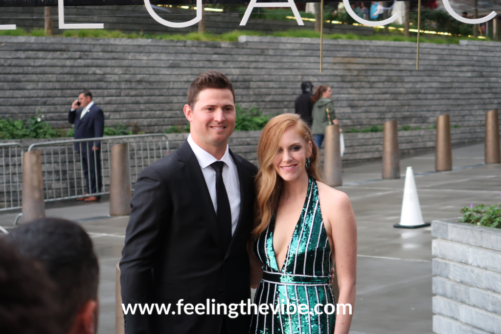 Zach Britton on the red carpet at the CC Sabathia Legaccy Pitcchin Foundation Gala in New York City on September 16, 2019.