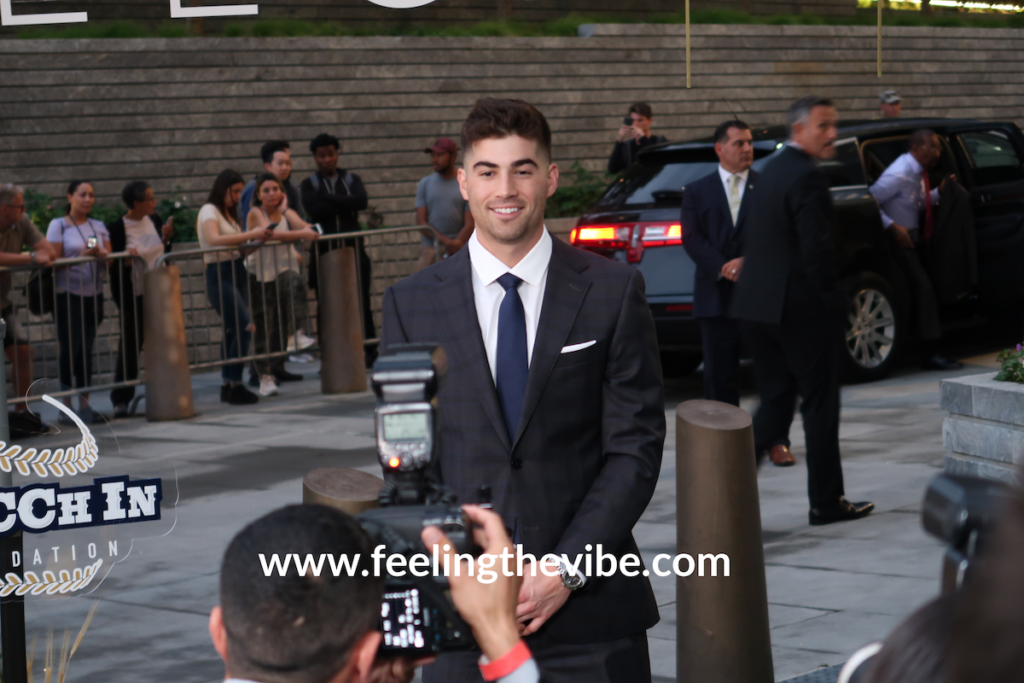 Tyler Wade arrives at the CC Sabathia Pitcchin Foundation Gala in NYC on September 16, 2019